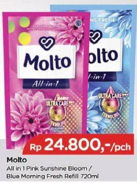 Promo Harga MOLTO All in 1 Blue Morning Fresh, Pink Sunshine Bloom 720 ml - TIP TOP