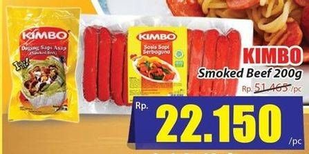 Promo Harga KIMBO Smoked Beef 200 gr - Hari Hari