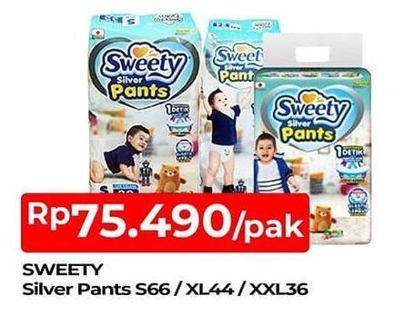 Promo Harga SWEETY Silver Pants S66, XXL36, XL44 36 pcs - TIP TOP