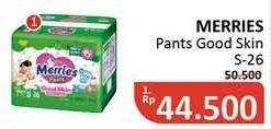 Promo Harga MERRIES Pants Good Skin S26 26 pcs - Alfamidi