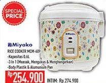 Promo Harga MIYAKO MCM-609 | Rice Cooker  - Hypermart