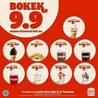 Promo Harga BURGER KING Menu Bokek  - Burger King
