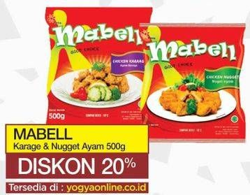 Promo Harga MABELL Mabell Chicken Karage/Nugget Ayam  - Yogya