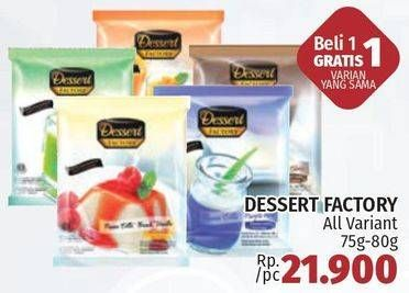 DESSERT FACTORY Panna Cotta 75 gr Harga Promo Rp21.900, Beli 1 Gratis 1 Varian yang Sama, Hypermarket