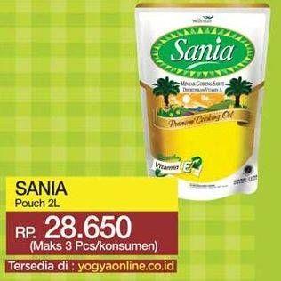 Promo Harga SANIA Minyak Goreng 2000 ml - Yogya
