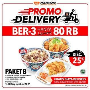 Promo Harga YOSHINOYA Promo Delivery Paket B  - Yoshinoya