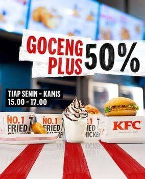 Promo KFC Menu Goceng Plus aja! Mulai dari 4 ribuan tiap Senin - Kamis jam 15.00-17.00: perkedel, sundae, pudding, dan masih banyak lagi loh!