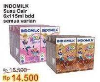 Promo Harga INDOMILK Susu UHT Kids All Variants 115 ml - Indomaret