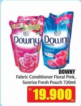 Promo Harga DOWNY Pewangi Pakaian Floral Pink, Sunrise Fresh 720 ml - Hari Hari