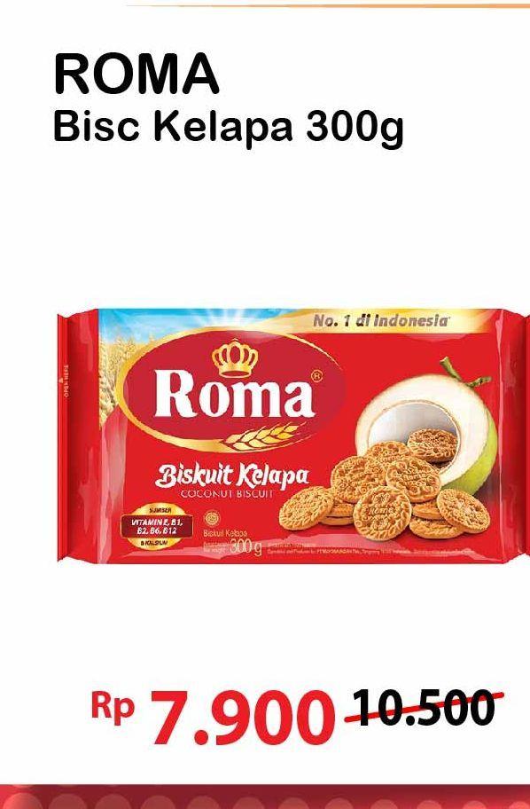 Promo Harga ROMA Biskuit Kelapa 300 gr - Alfamart