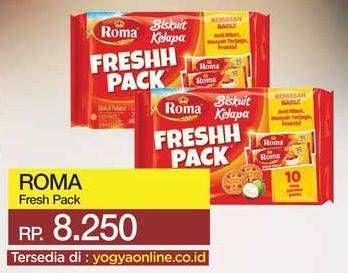 Promo Harga ROMA Freshh Pack per 10 pcs 23 gr - Yogya