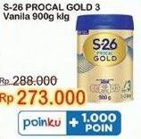 Promo Harga S26 Procal Gold Susu Pertumbuhan Vanilla 900 gr - Indomaret