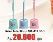 Promo Harga LION STAR Livina Toilet Brush 101 + POT B01  - Hari Hari