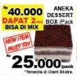 Promo Harga Aneka Dessert Box  - Giant