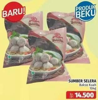 Promo Harga SUMBER SELERA Bakso Sapi Kuah 104 gr - Lotte Grosir