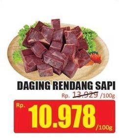 Promo Harga Daging Rendang Sapi per 100 gr - Hari Hari