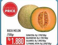 Promo Harga Rock Melon per 100 gr - Hypermart