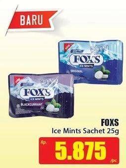 Promo Harga FOXS Ice Mints 25 gr - Hari Hari