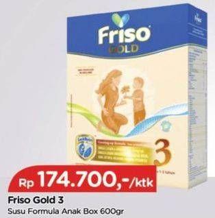 Promo Harga FRISO Gold 3 Susu Pertumbuhan Plain 600 gr - TIP TOP