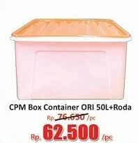 Promo Harga CPM Container Box + Roda Ori 50000 ml - Hari Hari
