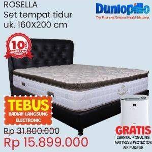 Promo Harga DUNLOPILLO Rosella Mattress Bed Set  - Courts