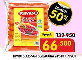 Promo Harga KIMBO Sosis Sapi Serbaguna 24 pcs - Superindo