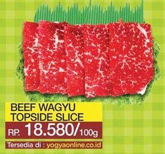 Promo Harga Beef Wagyu Top Blade Slice per 100 gr - Yogya