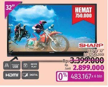 Promo Harga SHARP LC-32SA4200i | LED TV  - LotteMart
