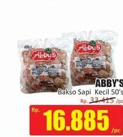 Promo Harga ABBYS Bakso Sapi Kecil per 50 pcs 370 gr - Hari Hari