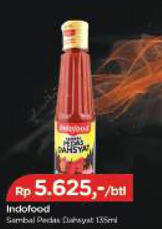 Promo Harga INDOFOOD Sambal Pedas Dahsyat 135 ml - TIP TOP