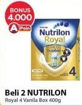 Promo Harga NUTRILON Royal 4 Susu Pertumbuhan Vanila 400 gr - Alfamart