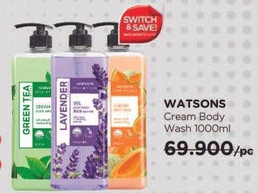Promo Harga WATSONS Shower Cream Body Wash 1000 ml - Watsons