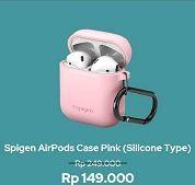 Promo Harga SPIGEN AirPods Case Silicone Pink  - iBox