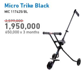 Promo Harga MICRO Trike Black  - Electronic City