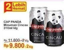 Promo Harga CAP PANDA Minuman Kesehatan Cincau 310 ml - Indomaret