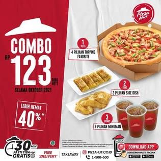 Promo Harga PIZZA HUT 1 Pan Regular Pizza + 2 Side Dish + 3 Drinks  - Pizza Hut