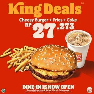 Promo Harga BURGER KING King Deals  - Burger King