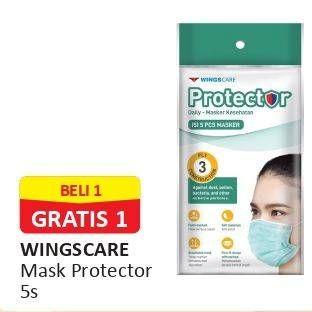 Promo Harga WINGS CARE Protector Daily Masker Kesehatan 5 pcs - Alfamart