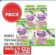 Promo Harga MERRIES Pants Good Skin S40, M34, L30, XL26 26 pcs - Hypermart