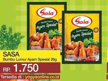 Promo Harga SASA Bumbu Masak Lumur Ayam Spesial 26 gr - Yogya