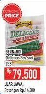 Promo Harga BERNARDI Delicious Sosis Sapi Goreng 25 pcs - Hypermart