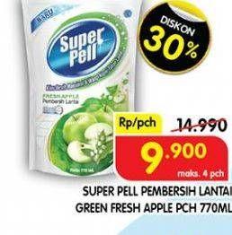 Promo Harga SUPER PELL Pembersih Lantai Fresh Apple 770 ml - Superindo