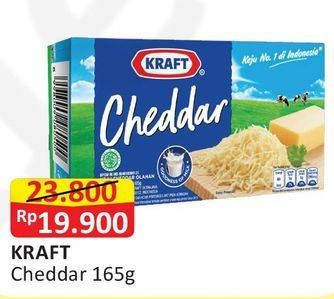 Promo Harga KRAFT Cheese Cheddar 165 gr - Alfamart