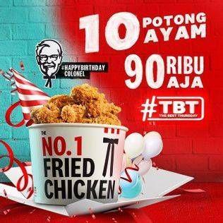 Promo Harga KFC The Best Thursday 10 pcs - KFC