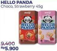 Promo Harga MEIJI HELLO PANDA Biscuit Strawberry, Chocolate 45 gr - Alfamart