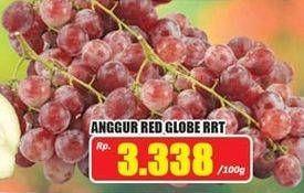 Promo Harga Anggur Red Globe RRT per 100 gr - Hari Hari