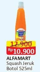 Promo Harga ALFAMART Syrup Squash Jeruk 525 ml - Alfamart