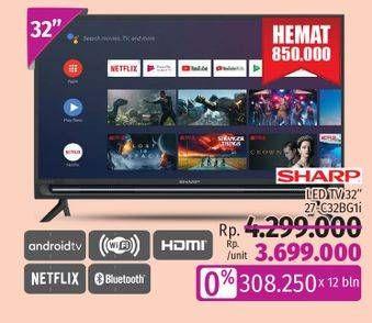 Promo Harga SHARP 2T-C32BG1   LED TV 32 inch  - LotteMart