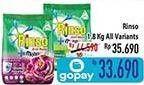 Promo Harga RINSO Anti Noda Deterjen Bubuk All Variants 1800 gr - Hypermart