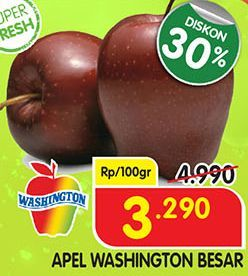 Promo Harga Apel Washington B Besar per 100 gr - Superindo